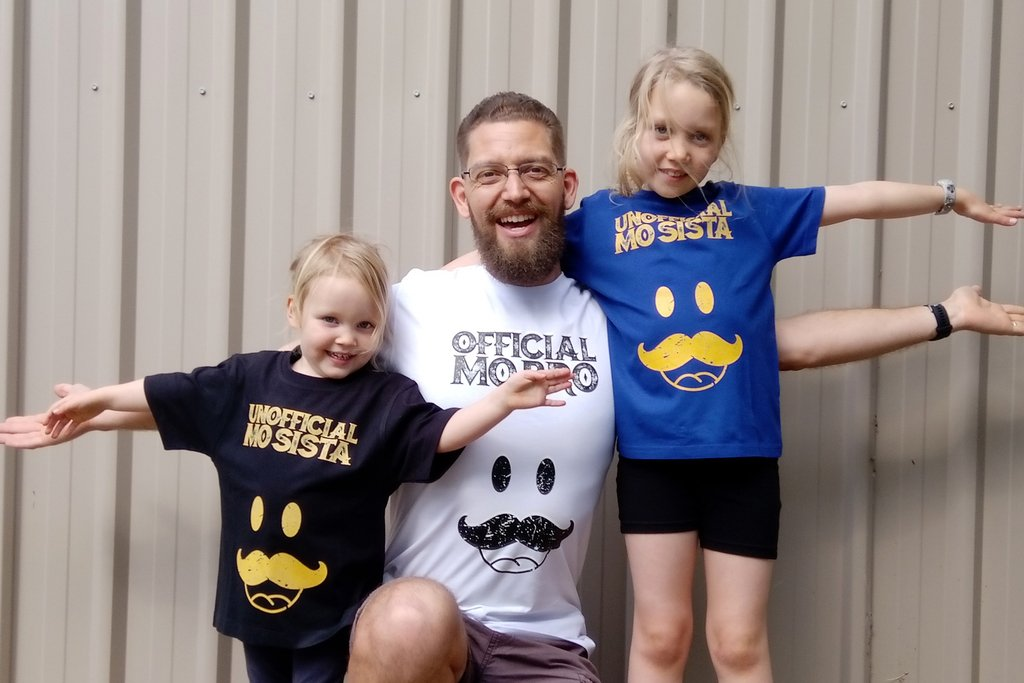 Matching Family Movember T shirts
